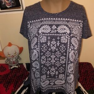 Style & co dark blue tee size PM